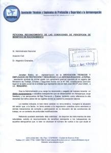 Peticiona reconocimiento de las condiciones de percepción de beneficio de racionamiento